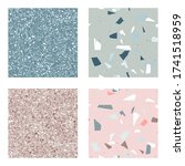 blue and pink   green terrazzo...   Shutterstock .eps vector #1741518959