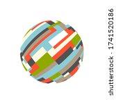 abstract rectangular sphere.... | Shutterstock .eps vector #1741520186