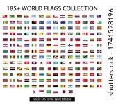 185 plus nations flag vector... | Shutterstock .eps vector #1741528196
