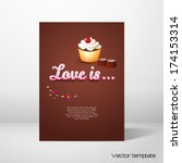 vector card template. beautiful ... | Shutterstock .eps vector #174153314