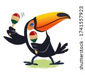Cute Happy Toucan Playing...