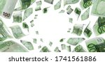 Counting Euro Banknote Falling...
