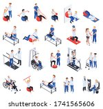 physiotherapy rehabilitation... | Shutterstock .eps vector #1741565606