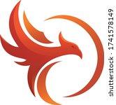 red phoenix vinyl design ...   Shutterstock .eps vector #1741578149