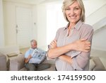 portrait of a smiling woman... | Shutterstock . vector #174159500