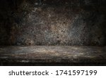 dark rusty top table display | Shutterstock . vector #1741597199