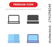 laptop icon pack isolated on...