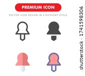 push pin icon pack isolated on...