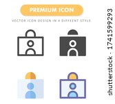 id card icon pack isolated on...