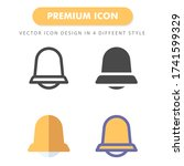 bell icon pack isolated on...