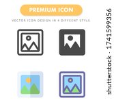 picture icon pack isolated on...