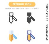 tie icon pack isolated on white ...