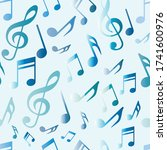 seamless music pattern on a...