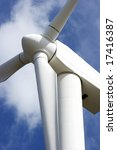 huge wind turbine against a... | Shutterstock . vector #17416387