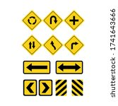 set warning signs on a white... | Shutterstock .eps vector #1741643666