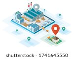 factory direct sale to home... | Shutterstock .eps vector #1741645550