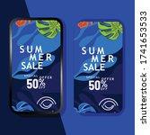 summer sale mobile promotion... | Shutterstock .eps vector #1741653533