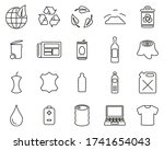 recycling or upcycling icons... | Shutterstock .eps vector #1741654043