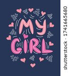 lgbt quote my girl concept ... | Shutterstock .eps vector #1741665680