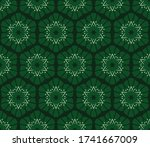 vector seamless pattern with... | Shutterstock .eps vector #1741667009