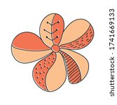 vector color flower... | Shutterstock .eps vector #1741669133