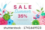 special offer summer sale 35 ... | Shutterstock .eps vector #1741669523