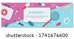 pharmacy background  pharmacy... | Shutterstock .eps vector #1741676600