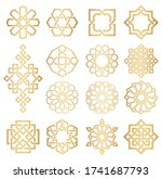 vector set of logo design... | Shutterstock .eps vector #1741687793