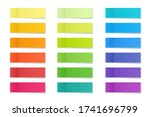 realistic sticky notes... | Shutterstock .eps vector #1741696799