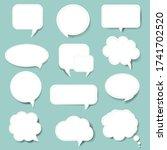 speech bubble with mint... | Shutterstock .eps vector #1741702520
