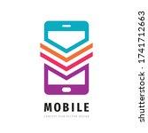 mobile phone vector logo... | Shutterstock .eps vector #1741712663