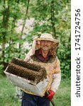 The Beekeeper Caught A Swarm O...