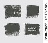 abstract grunge stamp element... | Shutterstock .eps vector #1741725506