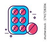 medicine pills seal drug line...
