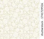 seamless flower pattern in...   Shutterstock .eps vector #1741729526