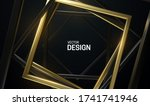 black and golden square frames. ... | Shutterstock .eps vector #1741741946