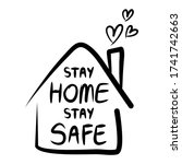 stay home stay safe poster... | Shutterstock .eps vector #1741742663