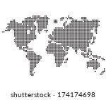 dot world maps and globes   Shutterstock .eps vector #174174698