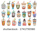collection of different cold...   Shutterstock .eps vector #1741750580