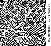 crazy calligraphic pattern of... | Shutterstock .eps vector #1741760879