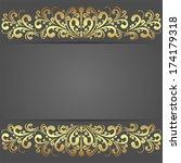 luxury dark background... | Shutterstock .eps vector #174179318