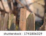 Old Wooden Fence  Nails  Broke...