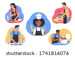 cooking at home. people cooking ... | Shutterstock .eps vector #1741816076
