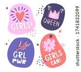 set of hand lettering labels... | Shutterstock .eps vector #1741832099