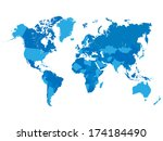 world map vector illustration | Shutterstock .eps vector #174184490