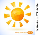 sun vector illustration. | Shutterstock .eps vector #174184514