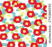 Japanese Pattern Camellia  For...