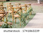 Wedding Aisle With Jute Runner...