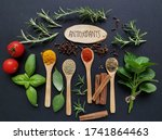 Set Of Various Spices In Wooden ...