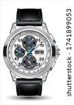 realistic clock watch...   Shutterstock .eps vector #1741899053
